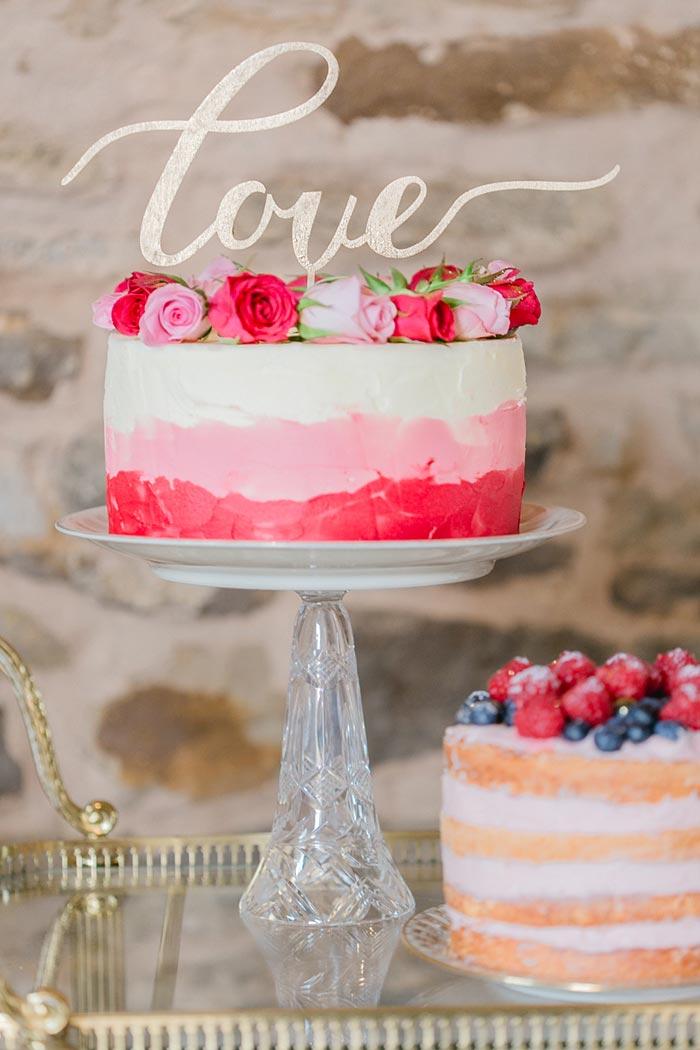 Mundus Hochzeit Rosa Candy Bar Torte Creme Mundus