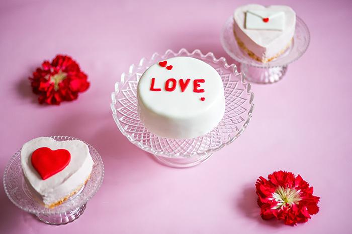 Valentinstag torte mit fondant